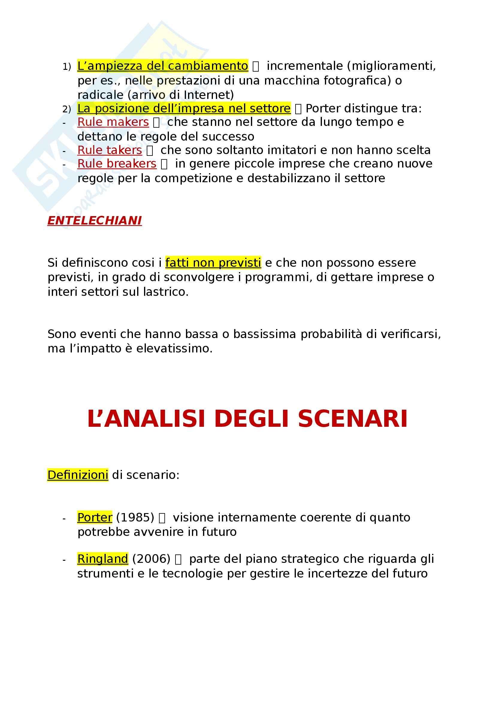 Riassunto esame Economia e gestione delle imprese, prof. Miglietta, libro consigliato Strategie d'impresa, Pellicelli Pag. 21