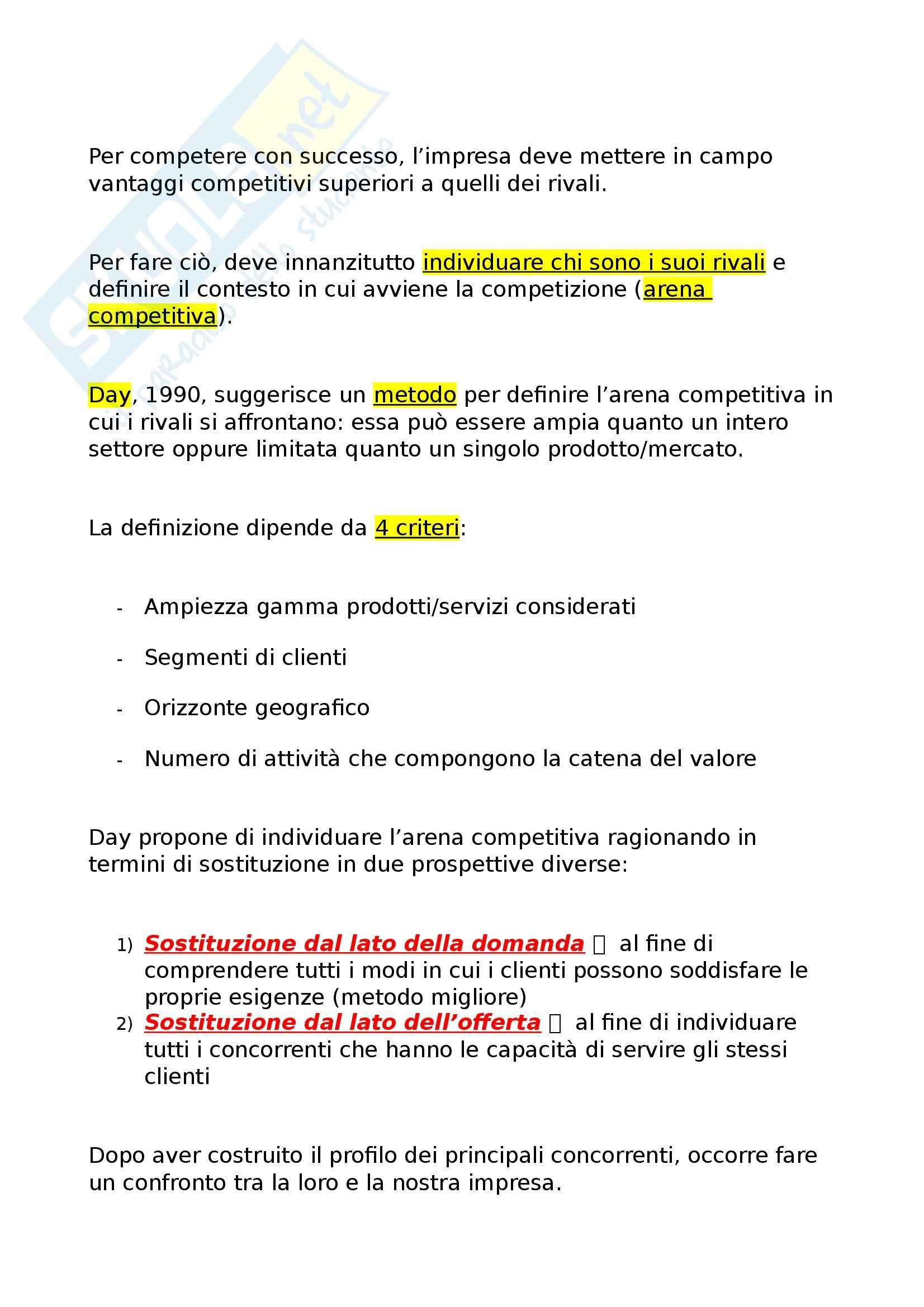 Riassunto esame Economia e gestione delle imprese, prof. Miglietta, libro consigliato Strategie d'impresa, Pellicelli Pag. 31