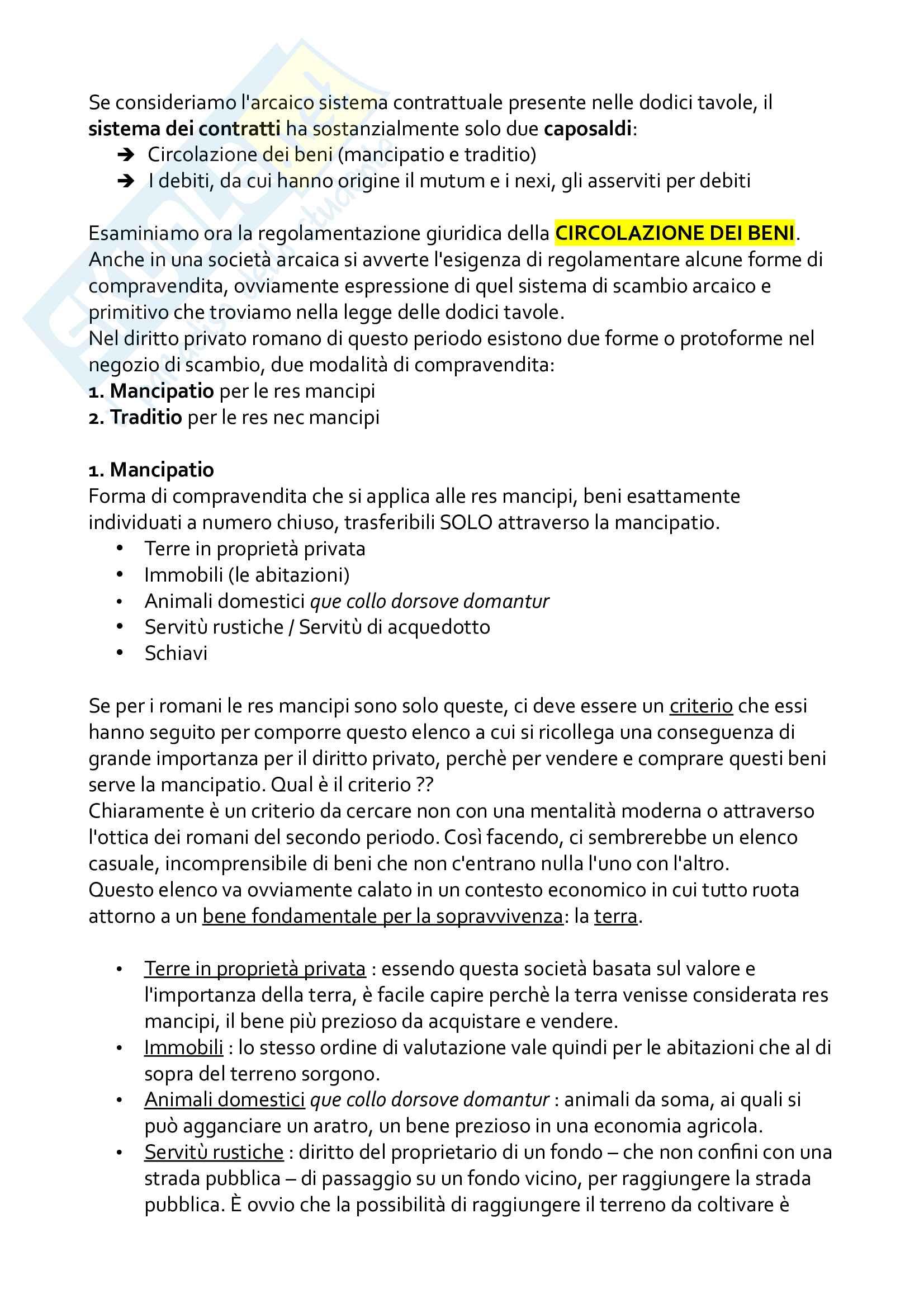 Riassunto esame Istituzioni di diritto romano, prof. Pesaresi, libro consigliato Diritto privato economia e società nella storia di Roma di Serrao e Diritto privato romano, Lovato, Puliatti, Solidoro Pag. 26