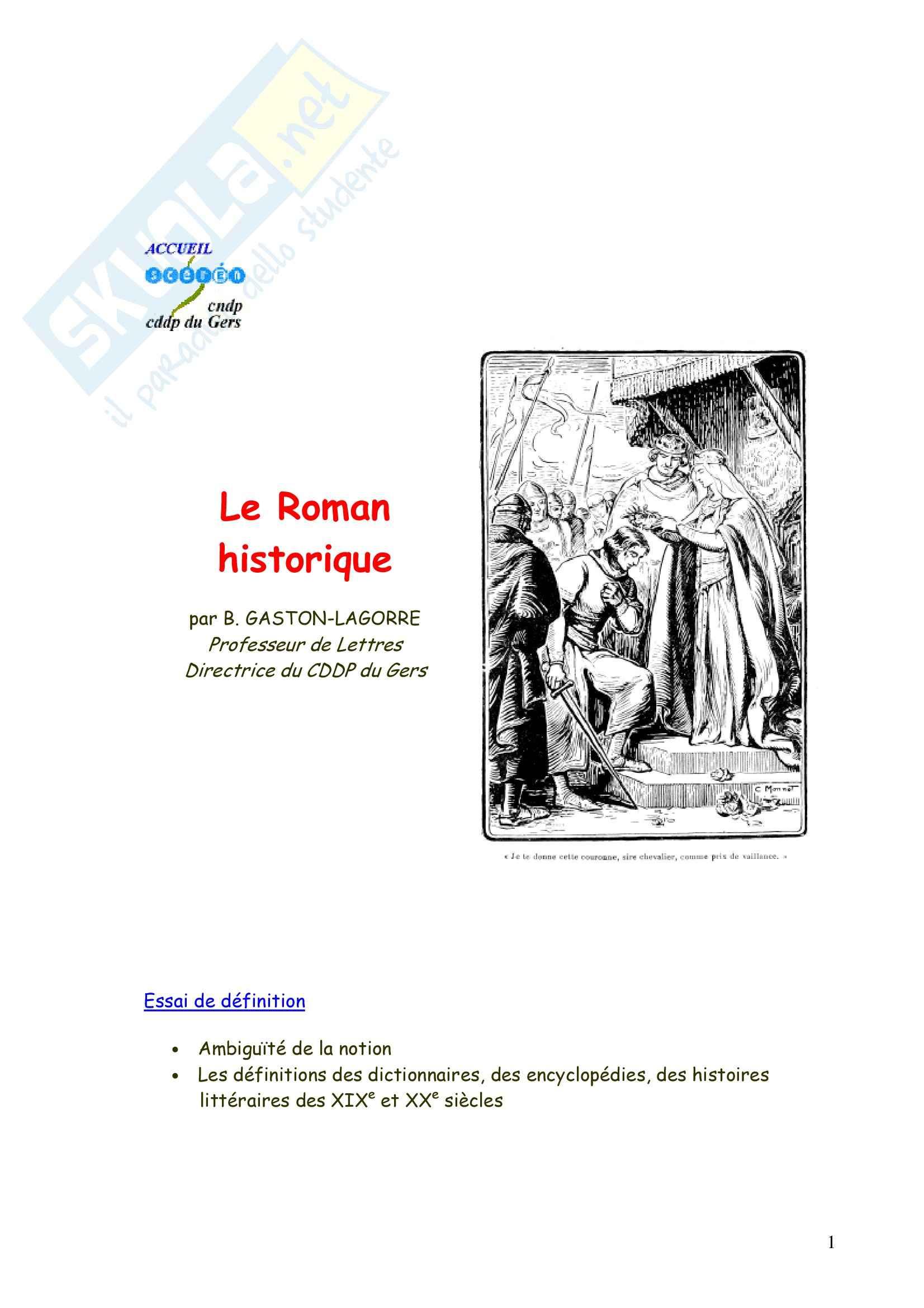 Le Roman historique