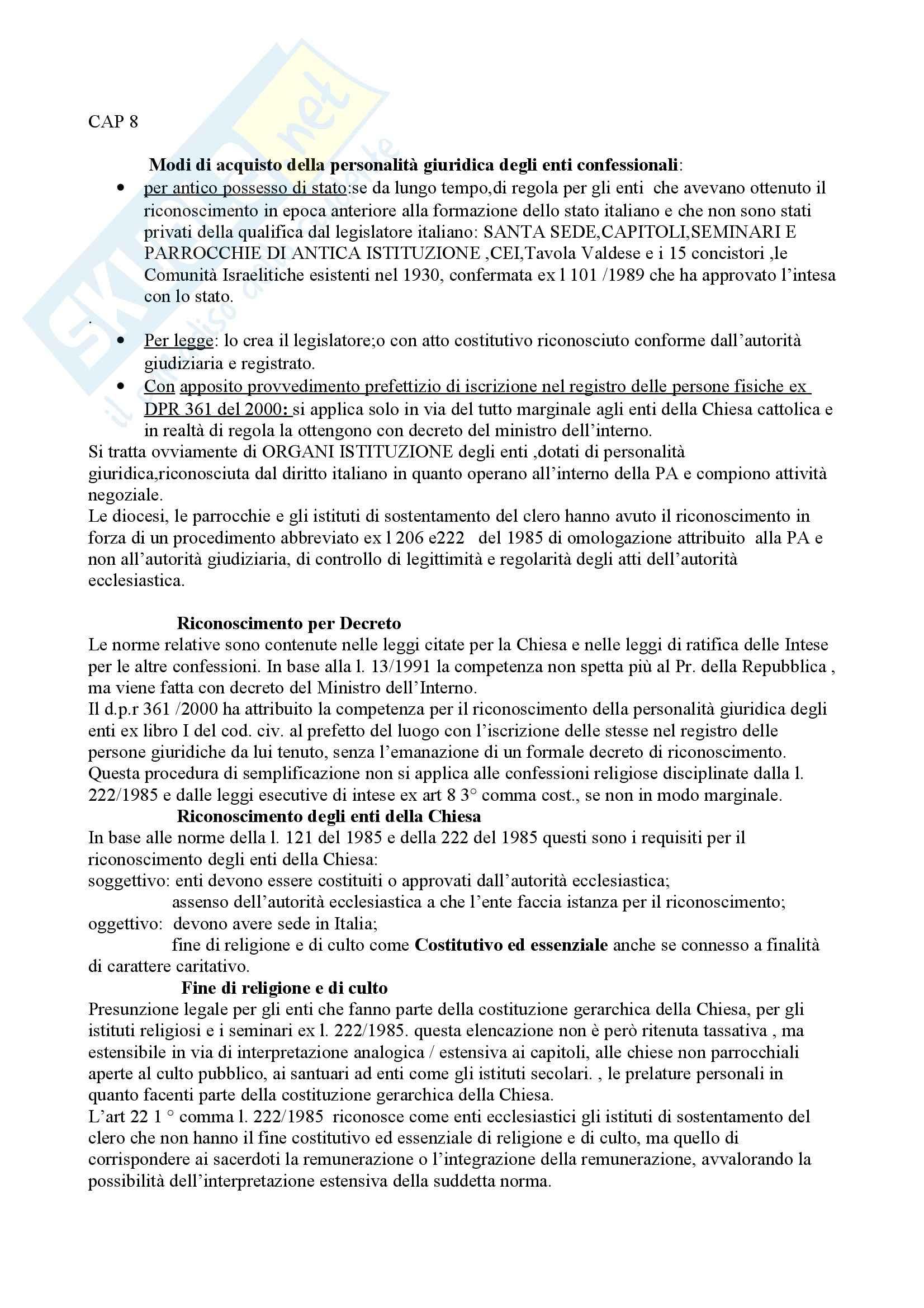 appunto G. Lo Castro Diritto Ecclesiastico