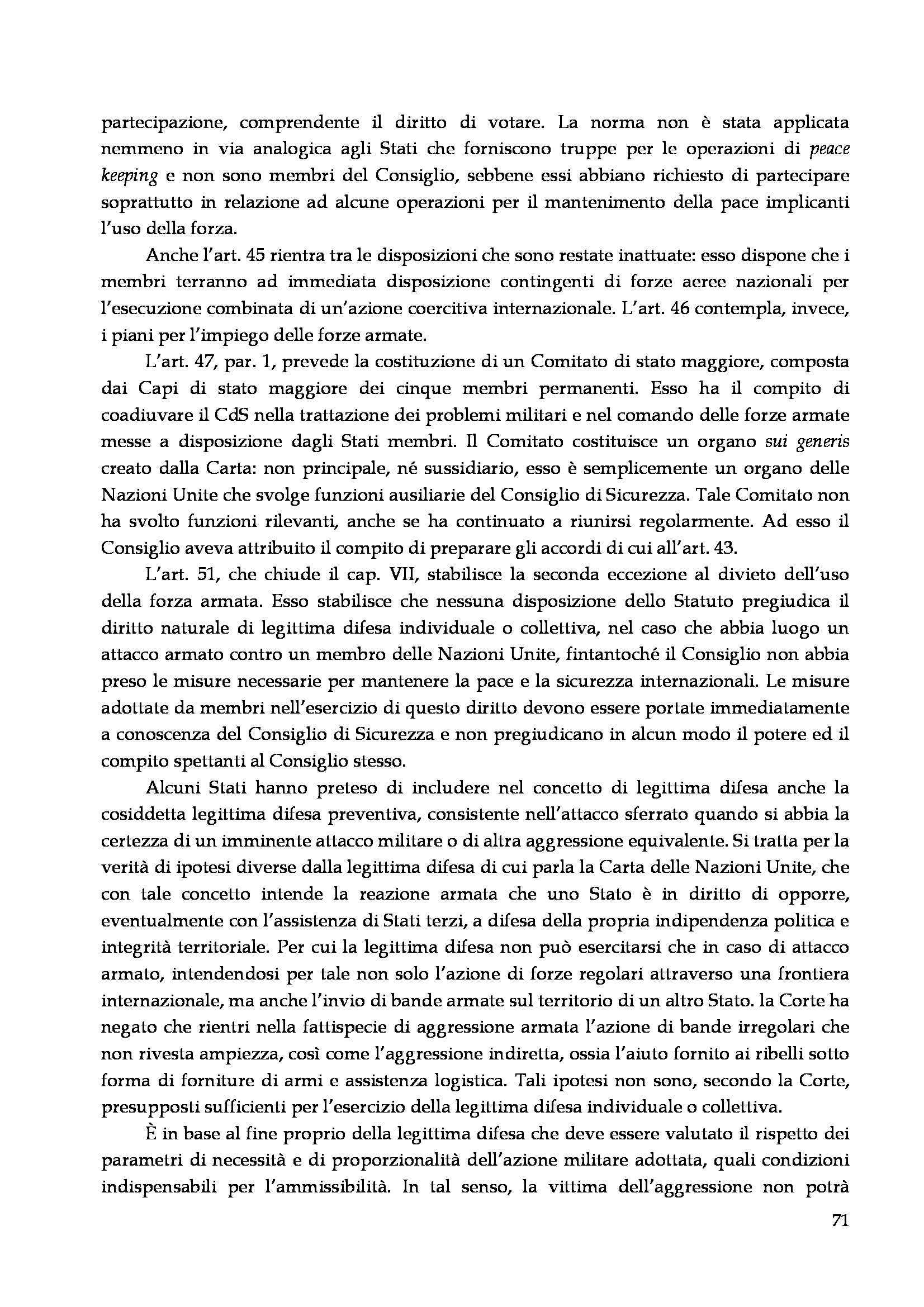 Diritto delle organizzazioni internazionali - Appunti Pag. 71
